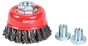 Picture of Wire Brush -STAINLESS-Twist Knot Cup Brush-75mm M10x1.6 With Skirt -ABRA769604- (EA)