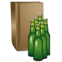 Picture of Paper Bag Brown 6 Bottle -BROB059850- (SLV-200)