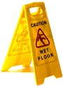 """Picture of Sign Yellow Caution Wet Floor - Cleaning in Progress """"A"""" Frame-CLEA384550- (EA)"""
