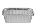 Picture of #446 / #7119 Rectangular Foil Container - 155mm x 76mm Base Dimensions x 57mm High-FCON135650- (SLV-100)