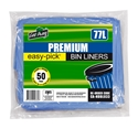 Picture of Garbage Bin Liner 70-77L HDPE Blue 740x900-GARB025100- (SLV-50)
