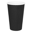 Picture of Black 16oz Dimple Coffee Cups -HCUP108300- (CTN-300)