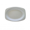 Picture of Foam Plate White Oval 7x 9in -PLAT088905- (CTN-500)