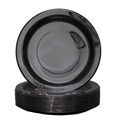 Picture of Plastic Plate Black 7in 180mm Extra Strong-PLAT090850- (SLV-50)
