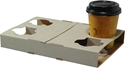 Picture of Cardboard 4 cup Carry Trays  - Fold Up Style-TRAY164800- (CTN-100)