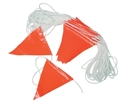 Picture of Flagging / Bunting - Triangles - Day Orange -30m Roll-WARN833820- (EA)