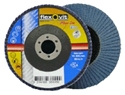 Picture of Flap Disks  100mm (4in) x 16mm  40grit   Blue (Zirconia) - FLEXOVIT-DISK763200- (BOX-10)
