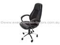 Picture of Executive Chair -Soft PU with Fabric Inlay, Chrome base and Tilt lock-FURN358722- (EA)