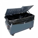 Picture of Black 1.5m3 Industrial Bin liners 1.85 + 1.0 x 2.1m (25/roll)-MPAC619580- (ROLL)
