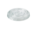 Picture of Clear Flat Lid with Straw / Spoon Slot to Suit Castaway PET 7/9/10 OZ Cups-PLAC119093- (SLV-100)