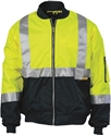 Picture of Jacket -Flying/Bomber-Hi Vis-Yellow/Navy with Reflective Tape-CLTH829550- (EA)