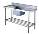 Picture of Sink Bench with Spashback - Centre Bowl 1200w x 600d x 900h-FURN358050- (EA)