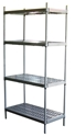 Picture of Shelving Metalsistem Start Bay 1972h x 900w x 400d with 4 Plastic Shelves -FURN358520- (EA)