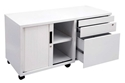 Picture of Fully Lockable Mobile Caddy with Tambour R/H Door - 1050W x 460D x 570H-FURN359491- (EA)