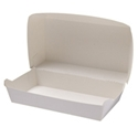 Picture of Cardboard Snack Pk 2 White - 115mm x 205mm Base Dimensions x 80mm High-SNAK153280- (CTN-250)