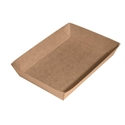 "Picture of Cardboard Food tray no.4 Kraft ""Betaboard"" - 225mm x 150mm Base Dimensions x 40mm High-TRAY164973- (CTN-240)"