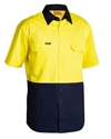 Picture of Shirt -Drill-s/sl-Light weight-Hi Vis-Ylw/Navy-CLTH829050- (EA)