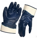 Picture of Dark Blue Heavy Weight Nitrile Coated Safety Cuff Glove - Hercules-IGLV792635- (CTN-144)