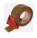 Picture of Economy hinged plastic tape holder with cutter Red VH14P-INDU664050- (EA)