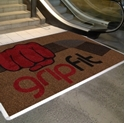 Picture of Mat -Custom Printed Logo Entrance - 1200mm x 850mm Solution Dyed Nylon,rubber back and edges-MATT359100- (EA)