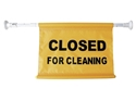 """Picture of Extendable Hanging Sign For Doorways """"Closed for Cleaning""""-CLEA384560- (EA)"""