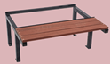 Picture of Locker Stands with Seat 750mm deep x 405mm high-FURN358432- (EA)