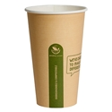Picture of 16oz Biodegradable Single Wall Kraft Coffee Cup-BIOD076204- (SLV-50)