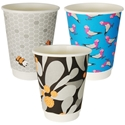 Picture of 12oz Biodegradable Double Wall Coffee Cup - Gallery Series (Mixed Print Selection)-BIOD076242- (SLV-25)