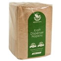 Picture of Enviro 1 Ply Dispenser Napkin - Brown Kraft-BIOD080624- (CTN-5000)
