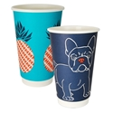 Picture of 16oz Biodegradable Double Wall Coffee Cup - Gallery Series (Mixed Print Selection)-BIOD076244- (CTN-500)