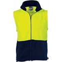 Picture of Polar Fleece Vest Two Tone Yellow / Navy Hivis-CLTH829805- (EA)