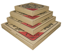 Picture of Pizza Box 9in Cardboard  Printed-PIZZ155400- (SLV-100)